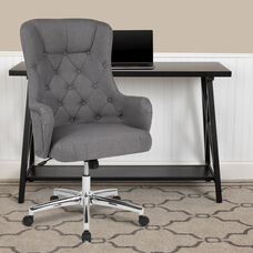 Gray Fabric with Chrome Metal finish
