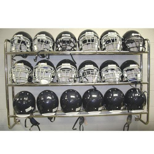 Wall Mounted Chrome Plated Steel Frame Helmet Rack