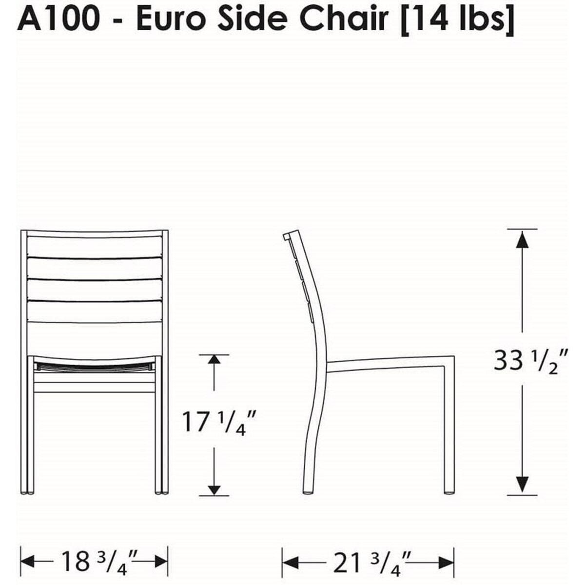 Euro Dining Side Chair A100fabsa Bizchair Com