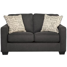 Signature Design by Ashley Alenya Loveseat in Charcoal Microfiber