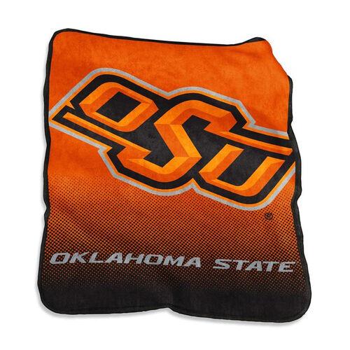 Oklahoma State University Team Logo Raschel Throw