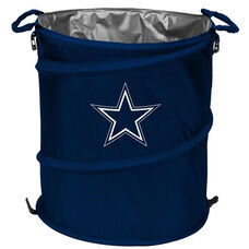 Dallas Cowboys Team Logo Collapsible 3-in-1 Cooler Hamper Wastebasket