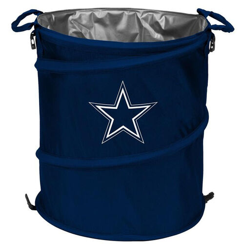 Our Dallas Cowboys Team Logo Collapsible 3-in-1 Cooler Hamper Wastebasket is on sale now.