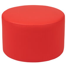"Soft Seating Collaborative Circle for Classrooms and Daycares - 12"" Seat Height (Red)"