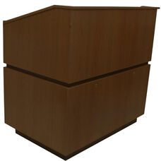 Coventry Non-Sound Multimedia Lectern - Walnut Finish - 30