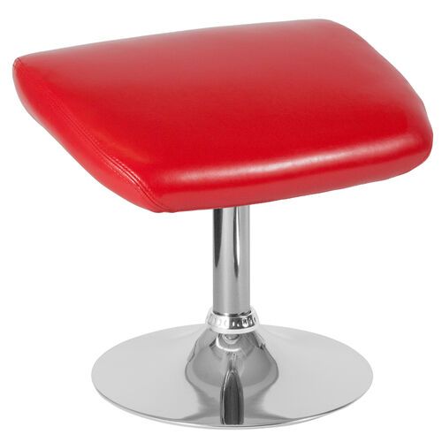 Our Egg Series Red LeatherSoft Ottoman is on sale now.