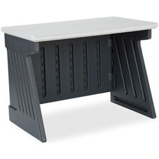 SnapEase Computer Desk - Charcoal and Silver