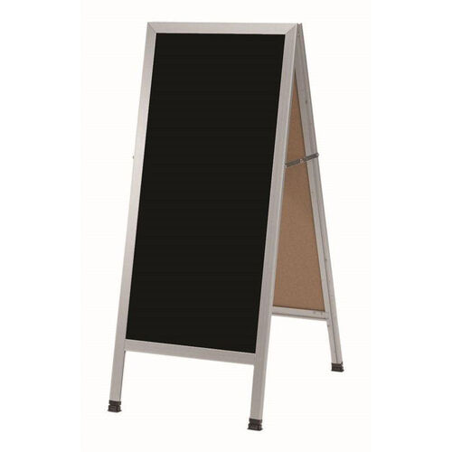 Our A-Frame Sidewalk Black Composition Chalkboard with Aluminum Frame - 42