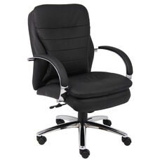 Mid Back CaressoftPlus™ Executive Chair with Padded Arms - Black