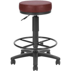 Anti-Microbial and Anti-Bacterial Vinyl UtiliStool with Drafting Kit - Wine