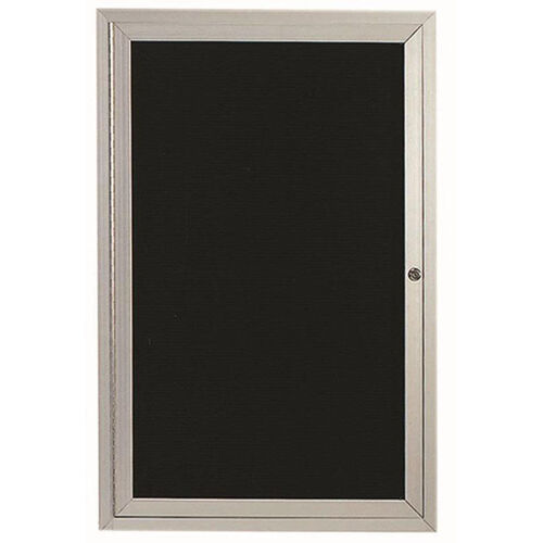 Our 1 Door Indoor Enclosed Directory Board with Aluminum Frame - 48