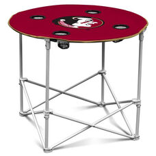 Florida State University Team Logo Round Folding Table