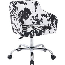 Ave Six Bristol Fabric Task Chair - Udder Madness Domino