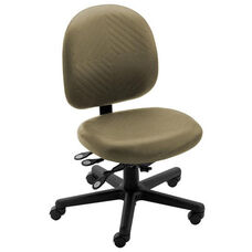 Triton Plus Large Back Desk Height Cleanroom ESD Chair with 350 lb. Capacity - 7 Way Control - Rhinoplus Night Urethane