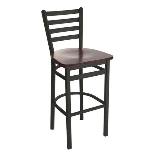 Our Lima Metal Ladder Back Barstool - Wood Seat is on sale now.