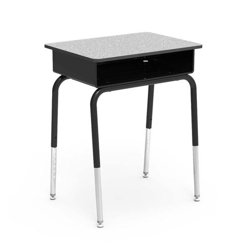 Our Quick Ship 785 Series Laminate Top Student Desk with Black Open Front Metal Book Box and Frame - 18
