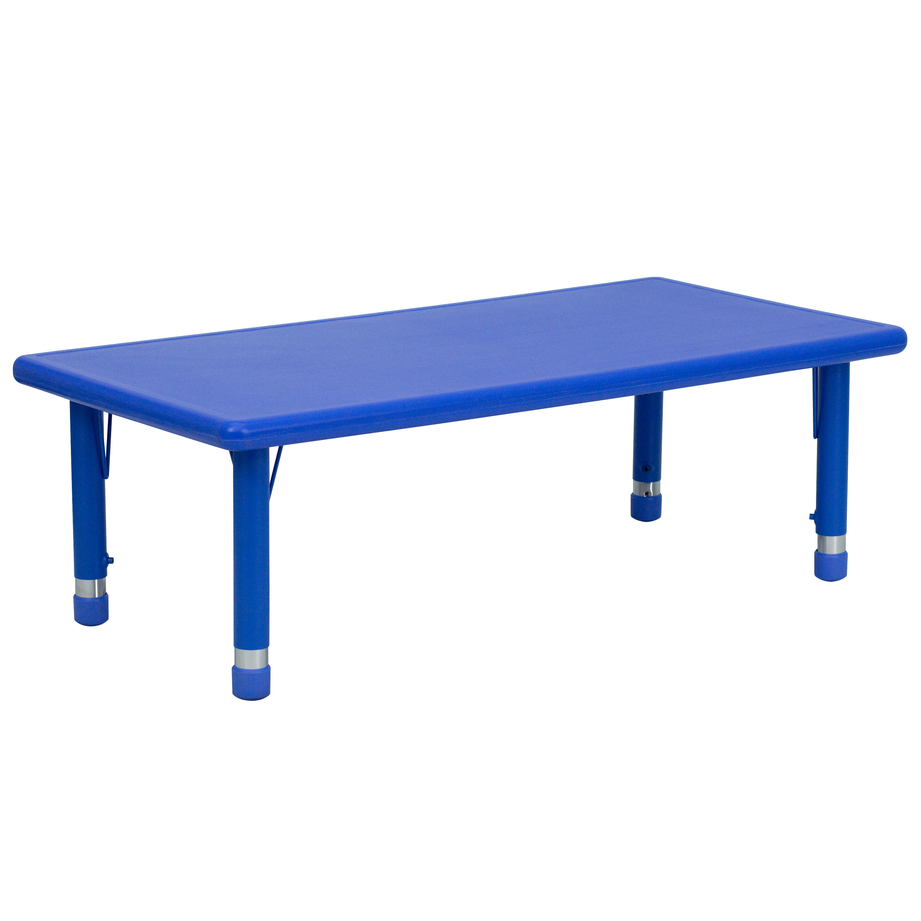 24u0027u0027W X 48u0027u0027L Rectangular Blue Plastic Height Adjustable Activity Table