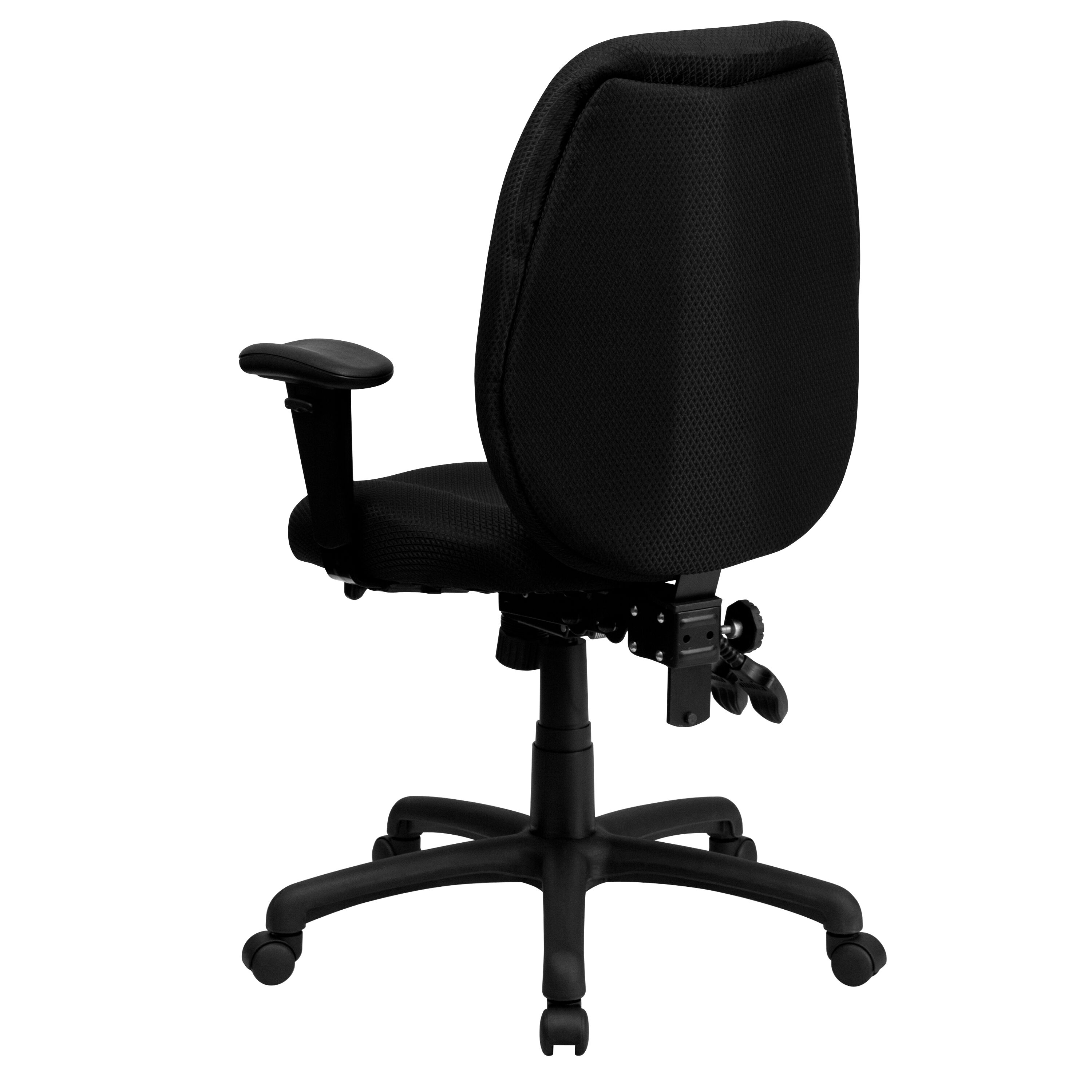 ... Our High Back Black Fabric Multifunction Ergonomic Executive Swivel  Chair With Adjustable Arms Is On Sale ...
