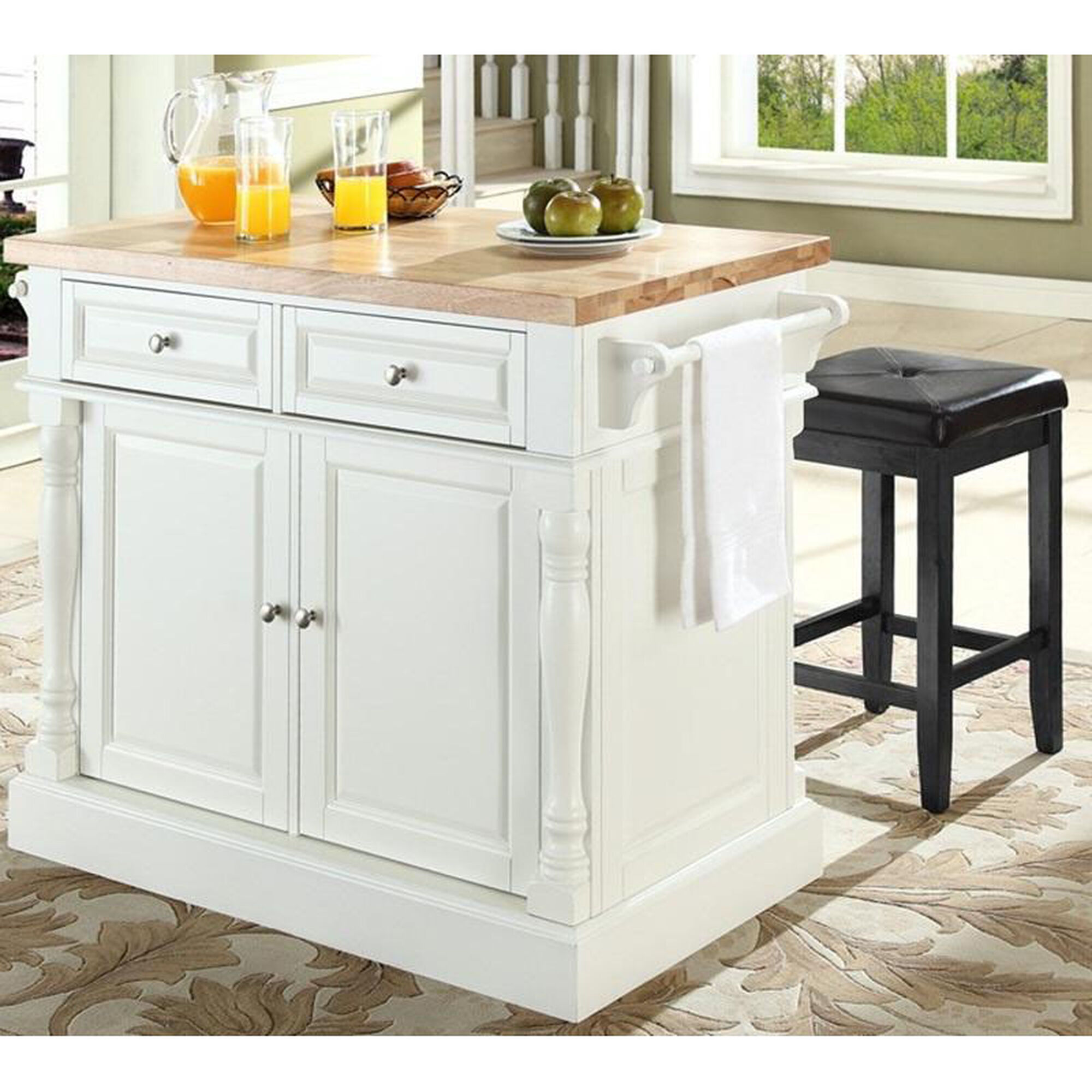 our butcher block top kitchen island with 24