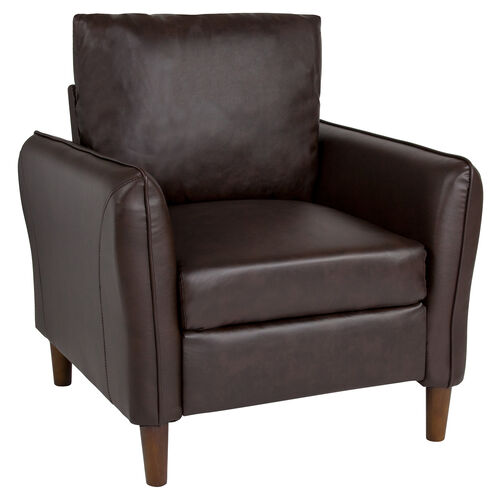 Milton Park Upholstered Plush Pillow Back Arm Chair