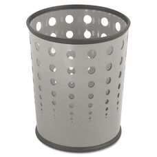 Safco® Bubble Wastebasket - Round - Steel - 6gal - Gray