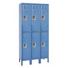 Ready-Built Three Wide Double-Tier - Assembled Locker with Locks