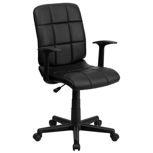 Our Mid-Back Quilted Vinyl Swivel Task Office Chair with Arms is on sale now.