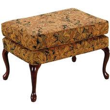 14221 Ottoman w/ Queen Anne Legs - Grade 1