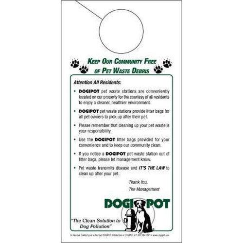 Our Informational Door Hanger - 50 Pack is on sale now.