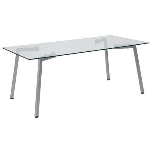 Our Roxbury Collection Glass Coffee Table with Silver Metal Legs is on sale now.