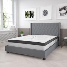Capri Comfortable Sleep 12 Inch CertiPUR-US Certified Hybrid Pocket Spring Mattress, Queen Mattress in a Box