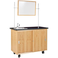 Economy Mobile Wooden Science Lab Table with 1.25