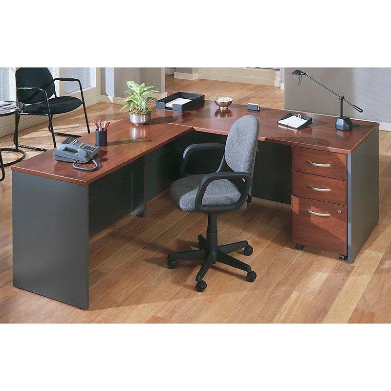 Nice Bush Business Furniture Series C 72u0027u0027 W X 30u0027u0027 D Desk Shell   Hansen Cherry  And Graphite Gray WC24436 | Bizchair.com