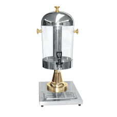 2.2 Gallon Juice Dispenser in Stainless Steel with Gold Plated Accents