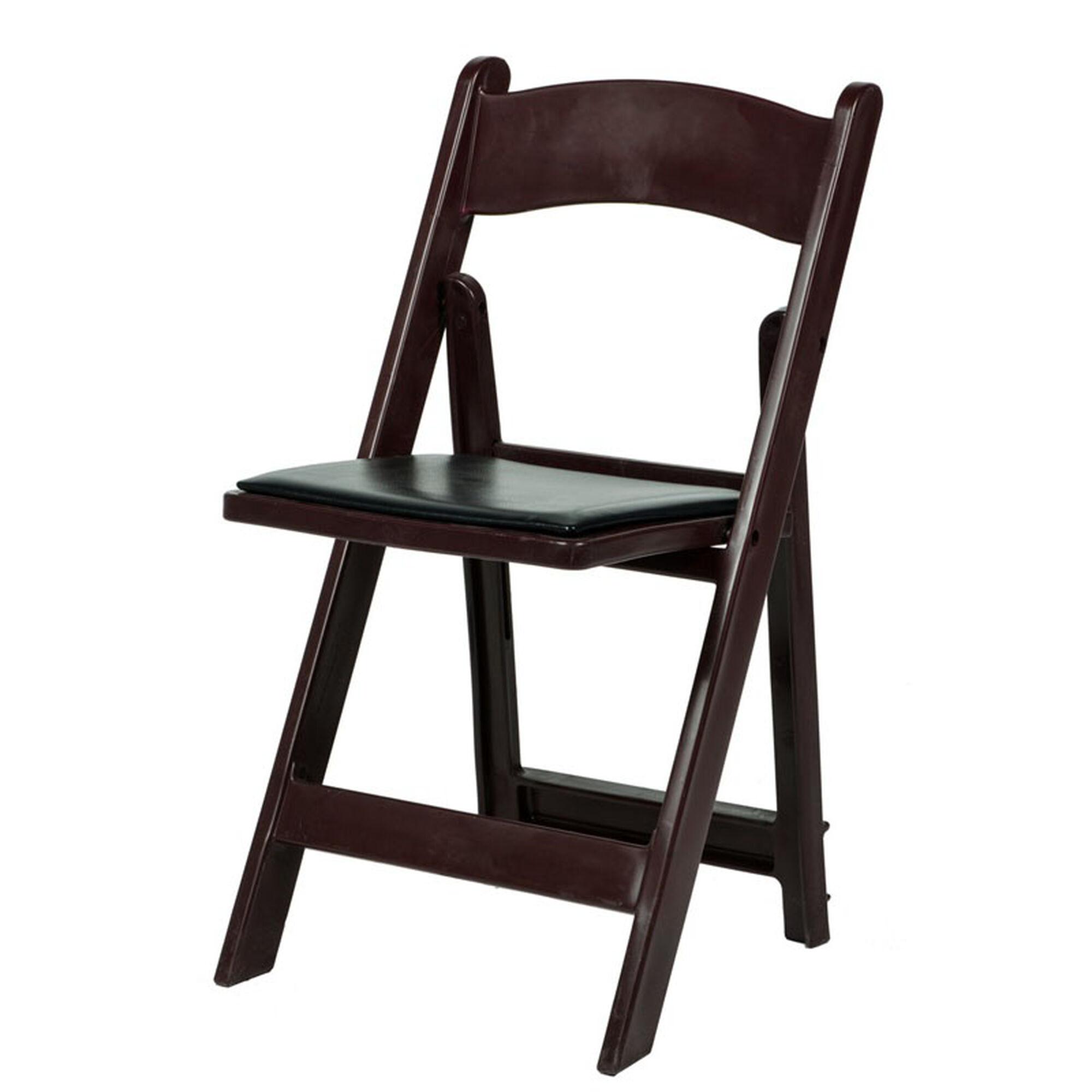 Strange 1000 Lb Max Red Mahogany Resin Folding Chair Theyellowbook Wood Chair Design Ideas Theyellowbookinfo
