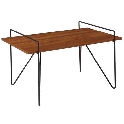 Our Porter Collection Cherry Wood Grain Finish Coffee Table with Black Metal Legs is on sale now.