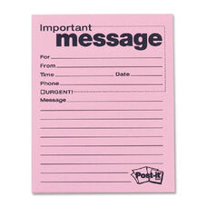 3M Post-It Important Telephone Message Pads - Pack Of 12