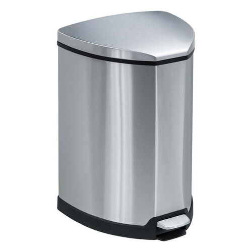 Our Safco® Step-On Waste Receptacle - Triangular - Stainless Steel - 4gal - Chrome/Black is on sale now.