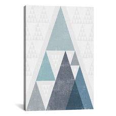 Mod Triangles III A by Michael Mullan Gallery Wrapped Canvas Artwork