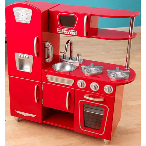 Our Kids Wooden Make-Believe Vintage Kitchen Play Set - Red is on sale now.