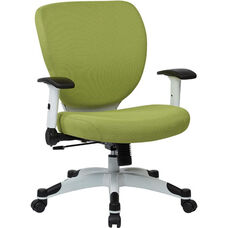 Space Pulsar Fabric Seat and Back Managers Office Chair - Dove Olive