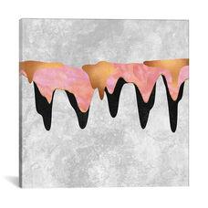 Pretty Color Drip I by Elisabeth Fredriksson Gallery Wrapped Canvas Artwork