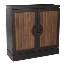 Inspired By Bassett Almeria Storage Console in Black and Brown