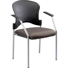 Breeze 25'' W x 21'' D x 33.75'' H Side Chair without Casters - Fabrix with Gray Frame