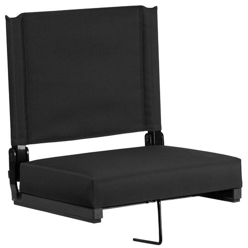 Our Grandstand Comfort Seats by Flash with Ultra-Padded Seat in Black is on sale now.