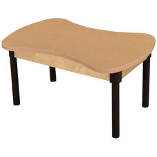 Synergy Classroom High Pressure Laminate Desk with Adjustable Steel Legs - 36