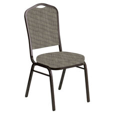 Embroidered Crown Back Banquet Chair in Sammie Joe Meadow Fabric - Gold Vein Frame