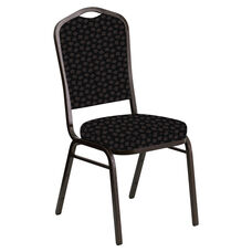 Crown Back Banquet Chair in Scatter Ferrer Fabric - Gold Vein Frame