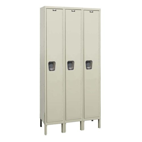 Quiet Stock Locker Three-Wide Single-Tier Locker - Assembled - 36