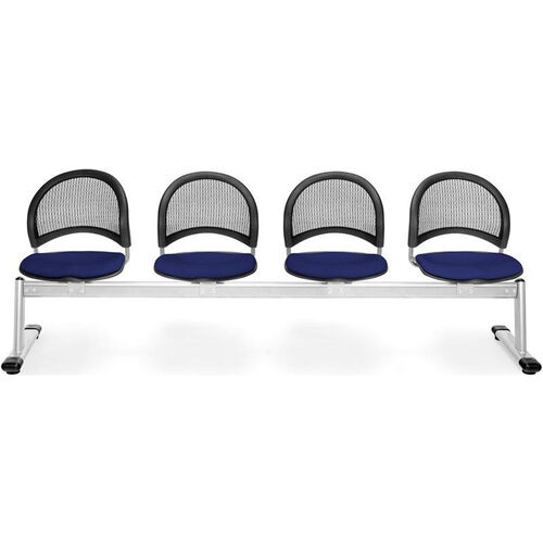 Our Moon 4-Beam Seating with 4 Fabric Seats - Navy is on sale now.